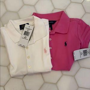 2 polo Ralph Lauren girls short sleeve shirts